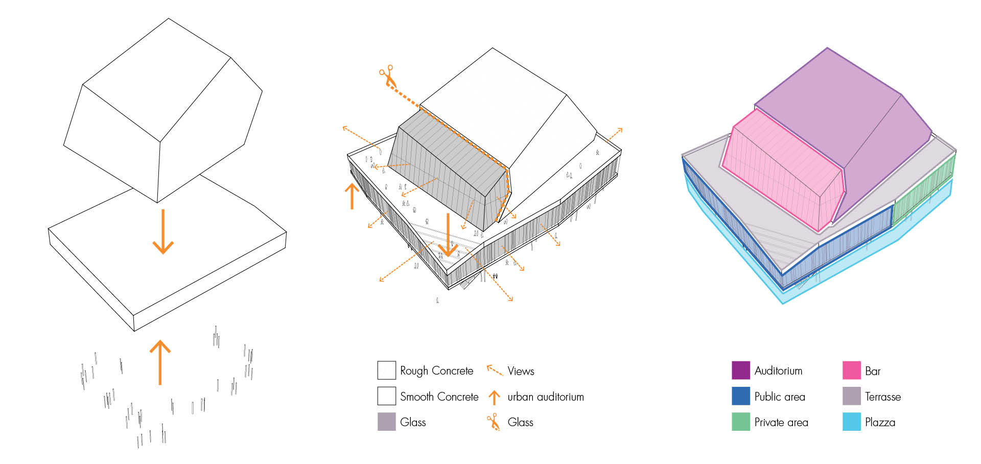 AQMA - ARCHITECTURAL DIAGRAMS - TOKYO MUSIC CENTER